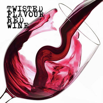 Digital Art - Twisted Flavour Red Wine by ISAW Company