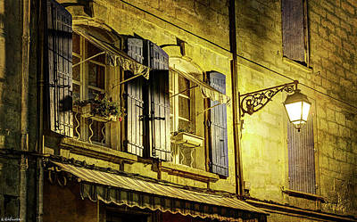 Photograph - Two Arlesienne Windows And A Lamplight - Vintage Version by Weston Westmoreland