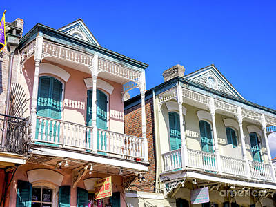 Photograph - Two Balconies In New Orleans by John Rizzuto