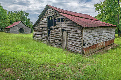 Photograph - Two Barns 2019-08 01 by Jim Dollar