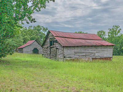 Photograph - Two Barns 2019-08 02 by Jim Dollar