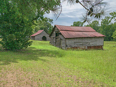 Photograph - Two Barns 2019-08 03 by Jim Dollar