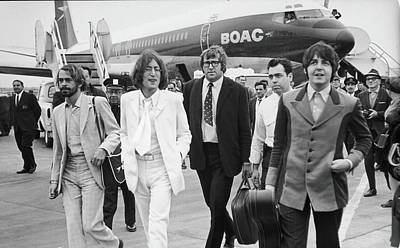 Photograph - Two Beatles Arrive In New York by Fred W. Mcdarrah