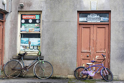 Photograph - Two Bikes In Ireland  by John McGraw