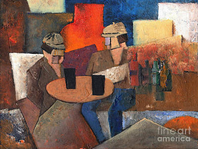 Painting - Two Black Solutions by Val Byrne