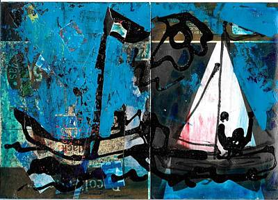 Painting - Two Boats by Jack Loeb