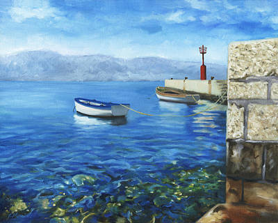 Painting - Two Boats by Joe Maracic