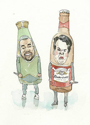 Painting - Two Bottles by Barry Blitt