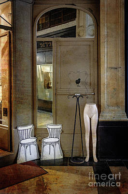 Photograph - Two Chairs, A Black Bird And Half A Nude by Craig J Satterlee