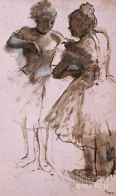 Drawing - Two Dancers, 1873 by Edgar Degas