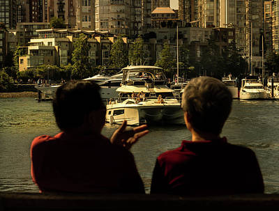 Photograph - Two Friends At The Vancouver Bay by Juan Contreras