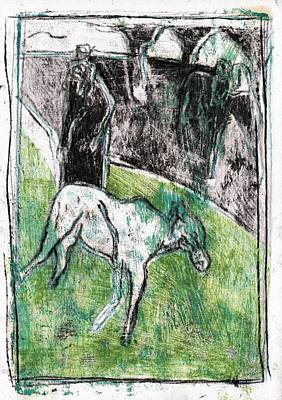 Painting - Two Goats 5 by Artist Dot