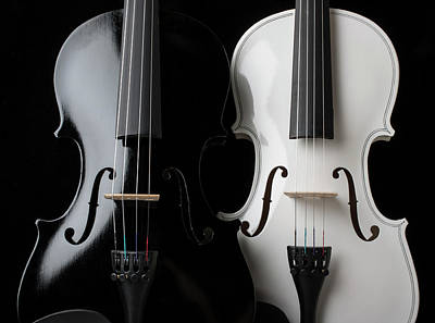 Photograph - Two Graphic Violins by Garry Gay
