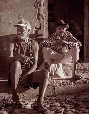 Wall Art - Photograph - Two Guys In Trinidad Cuba by Joan Carroll