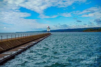 Photograph - Two Harbors Breakwater Lighthouse by Susan Rydberg