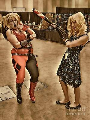Photograph - Two Harley Quinn's  by Amanda Kessel