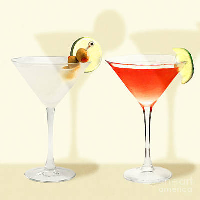 Photograph - Two Martinis Shaken Not Stirred 20180925 Square by Wingsdomain Art and Photography