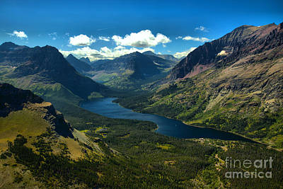 Photograph - Two Medicine Lake Overlook by Adam Jewell