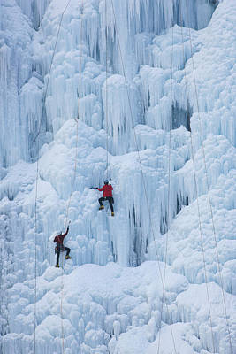 Photograph - Two Men Ice Climbing by 490615 / Multi-bits