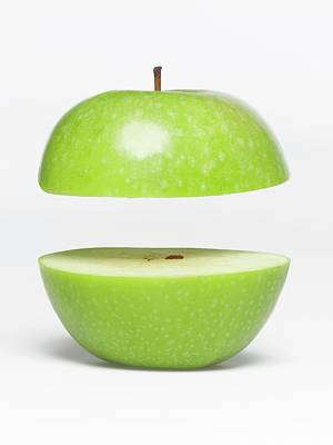 Two Parts Of Apple With Copyspace Art Print by Jazzirt