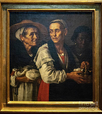 Photograph - Two Peasant Girls And A Servant Justus Suttermans Uffizi Gallery Florence Italy by Wayne Moran