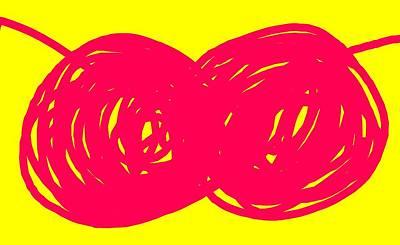 Two Red Cherries Art Print