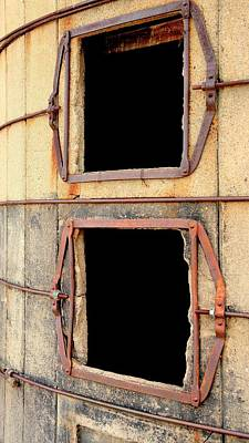 Jerry Sodorff Royalty-Free and Rights-Managed Images - Two Silo Portals by Jerry Sodorff