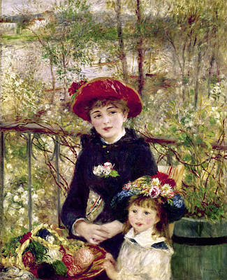 Painting - Two Sisters On The Terrace By Pierre by Superstock