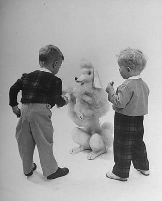 Photograph - Two Small Boys Modeling Small Boys Fashi by Nina Leen