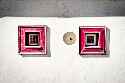 Photograph - Two Small Square Windows - Portugal by Stuart Litoff
