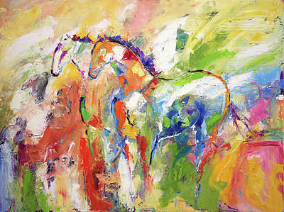 Painting - Two Together Always by Laurie Pace