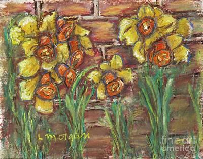 Painting - Two Toned Daffodils by Laurie Morgan