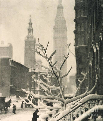 Photograph - Two Towers  New York, 1911 by Alfred Stieglitz