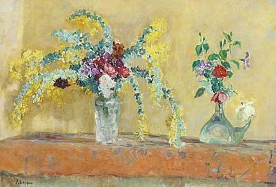 Lego Art - Two Vases of Flowers by Henri Lebasque