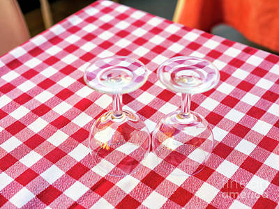 Photograph - Two Wine Glasses Florence by John Rizzuto