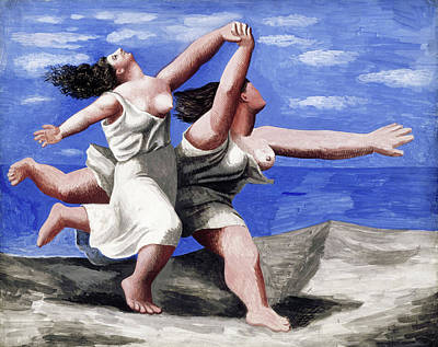Fat Women On Beach Wall Art - Painting - Two Women Running On The Beach by Pablo Picasso