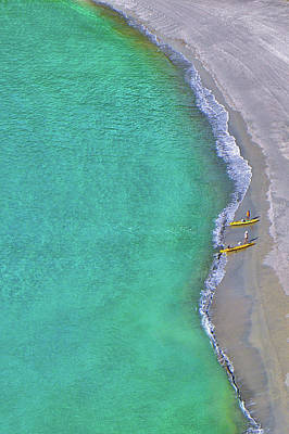Photograph - Two Yellow Kayak Boat Arrival by I Love Photo And Apple.
