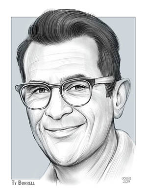 Drawings Rights Managed Images - Ty Burrell Royalty-Free Image by Greg Joens