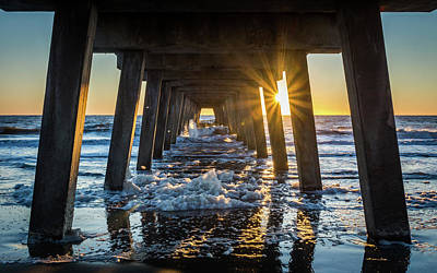Photograph - Tybee Pier Sunrise by Framing Places