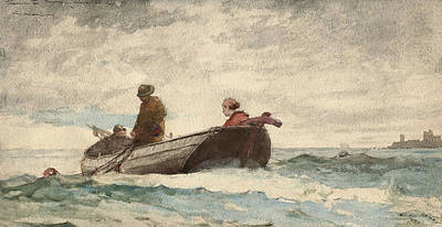 Drawing - Tynemouth Priory, England by Winslow Homer