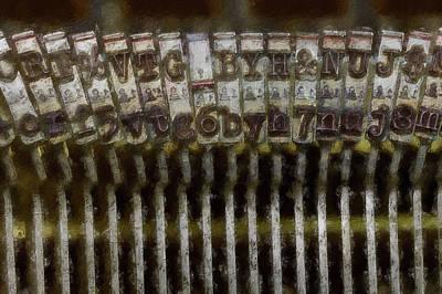 Digital Art - Typewriter Arms by Pekka Liukkonen