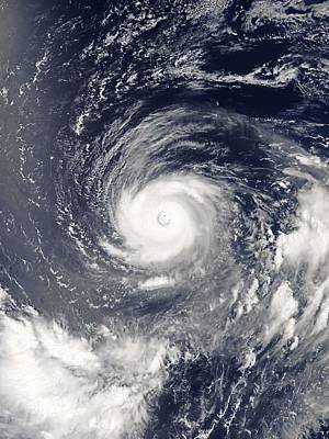 Painting - Typhoon Noru At Peak Intensity And Displaying Annular Characteristics On July 31, 2017 by Celestial Images