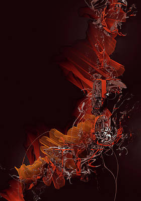 Morphing Digital Art - Typographic Ink by Jens Karlsson
