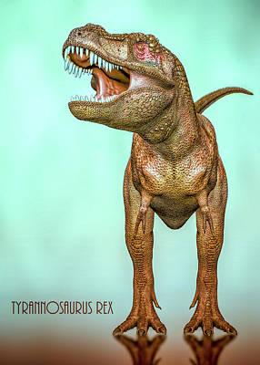 Digital Art - Tyrannosaurs Rex by Bob Orsillo