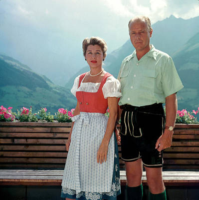 Photograph - Tyrolean Dress by Slim Aarons