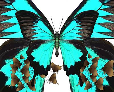 Child Wall Art - Digital Art - U Is For Ulysses Butterfly by Joan Stratton