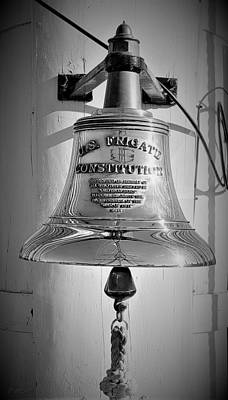 Photograph - U S Frigate Constitution Bell by Rob Hans