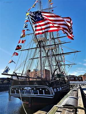 Photograph - U S Frigate Constitution by Rob Hans