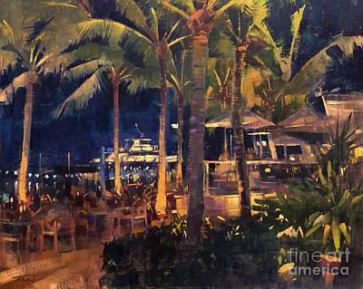 Painting - U-Tiki Beach by Patrick Saunders