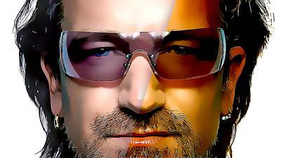 Bono Mixed Media - U2 Bono by Marvin Blaine